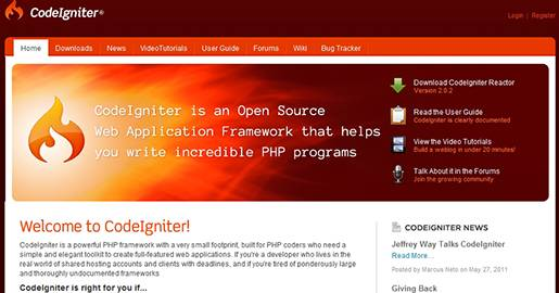 CodeIgniter is an Open source PHP Web application framework. It is a powerful PHP framework with a very small footprint, built for PHP coders who need a simple and elegant toolkit to create full-featured Web applications.