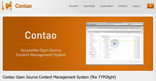 Contao is a Web based Open Source Content Management System, formerly known as TYPOlight, that generates accessible Websites.