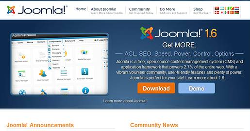 Joomla is a free, open-source content management system and application framework that powers 2.7% of the entire Web. Has a vibrant volunteer community, user-friendly features and plenty of power.