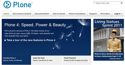 Plone is a free and open source CMS which can be used for any kind of Website, including blogs, internet sites, Webshops and internal Websites. It is also well positioned to be used as a document pulishing system and groupware collaboration tool. The strengths of Plone are its flexible and adaptable workflow, very good security, extensibility, and high usability.