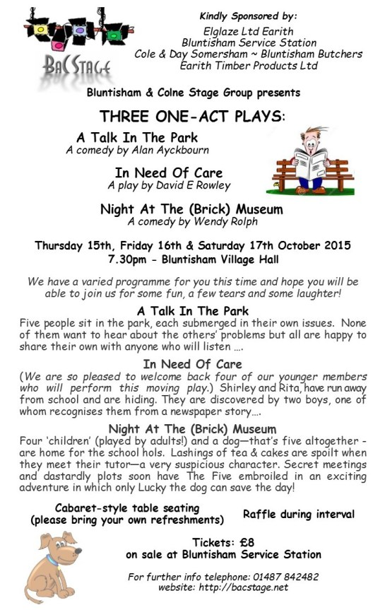 Leaflet - Three Plays Oct 15