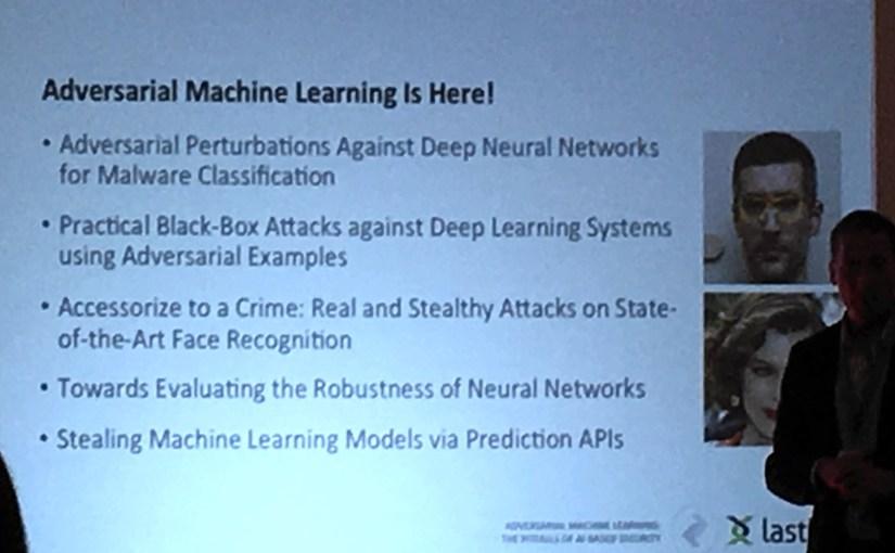 จุดอ่อนของ AI ในงานความมั่นคงปลอดภัยทางสารสนเทศ #infosec17