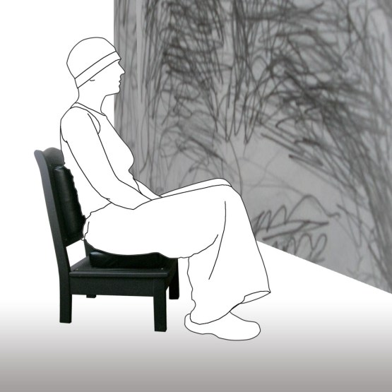Petite chaise Noir Design