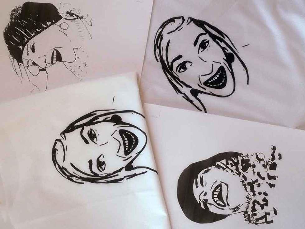 Déclinaison des visages Happy sur textile