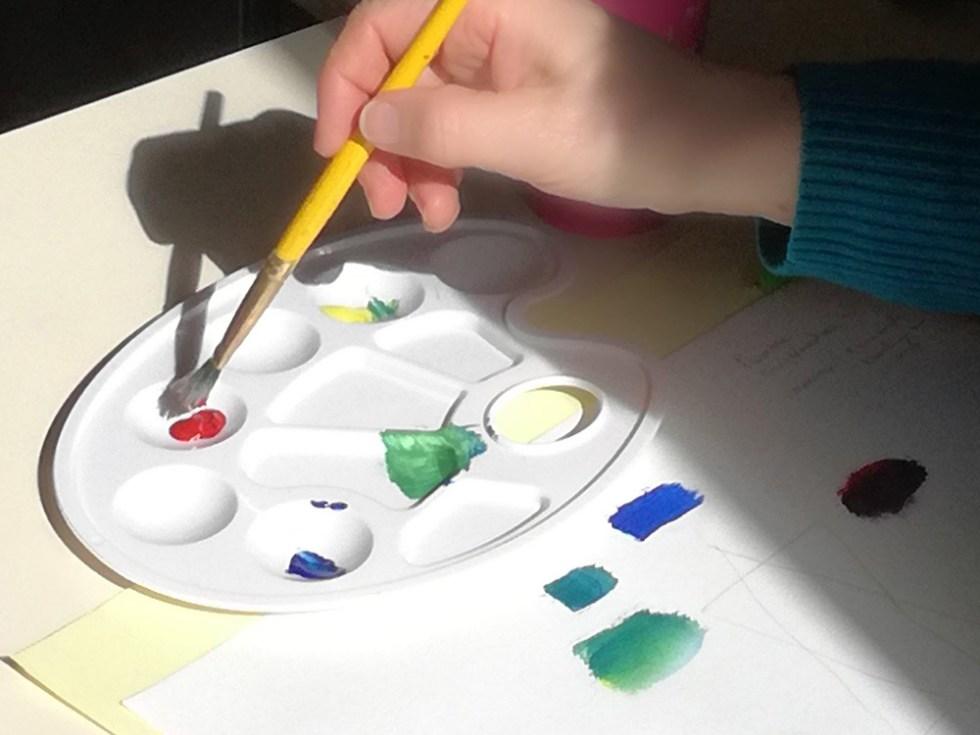 Elaboration d'échantillon de couleurs
