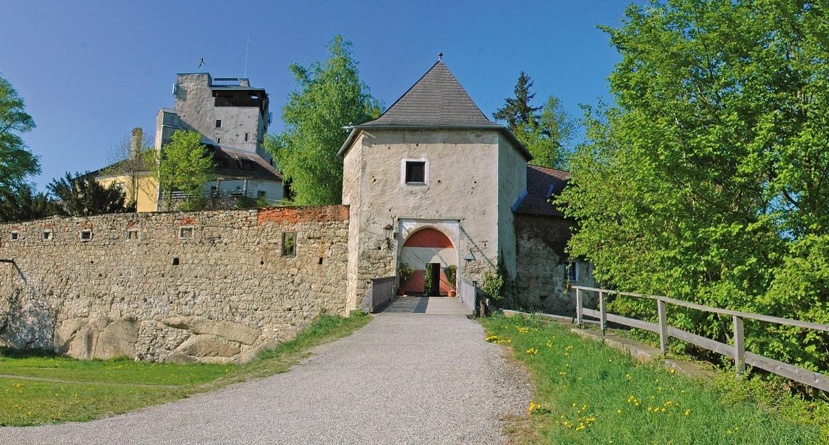 Haupteingang Burg Bad Kreuzen
