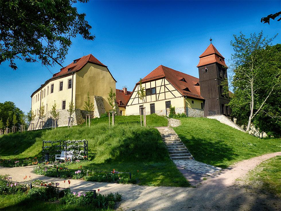 Schloss und Schlossgraben Bad Lauchstädt