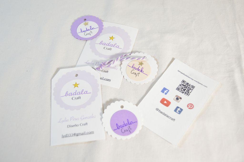 Tarjetas y etiquetas de marca