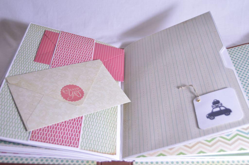 Detalle interior sobres decorados
