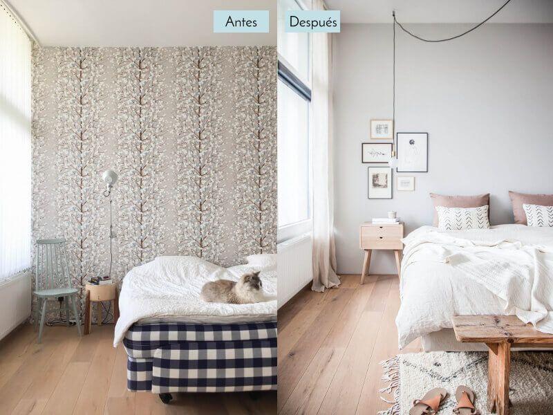 Antes y despues casa dormitorio