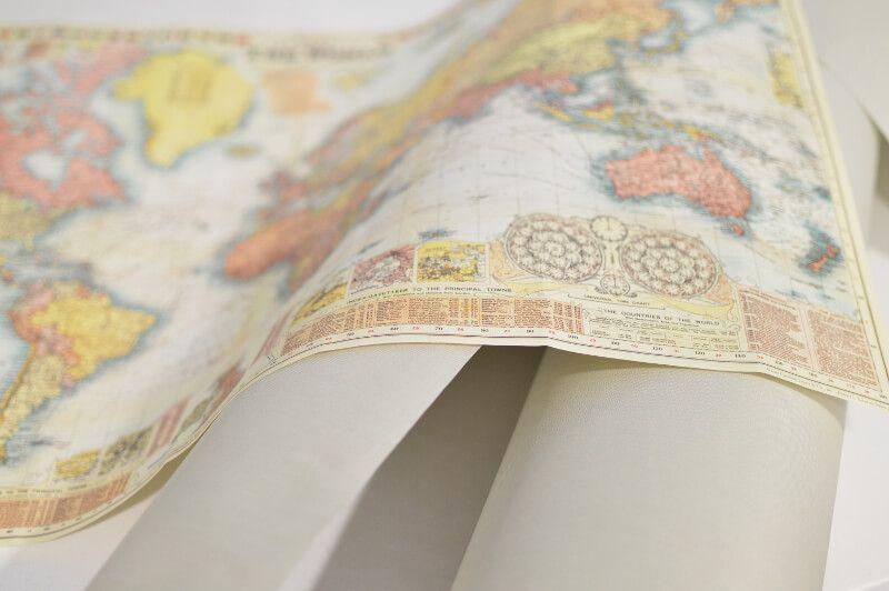 Mapa y tela