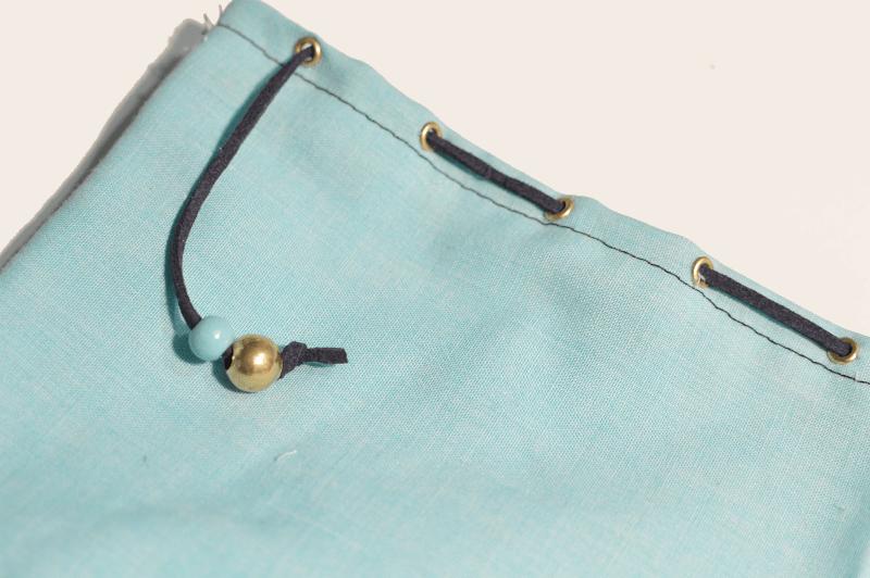 Detalle bolsa de tela