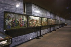 Embroidered tapestry depicting the Great Trek - Afrikaner women's heritage contribution to the monument