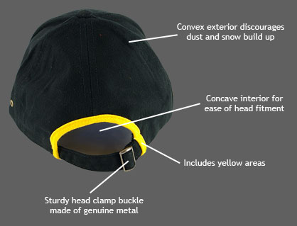 Fishing Hat Features Rear
