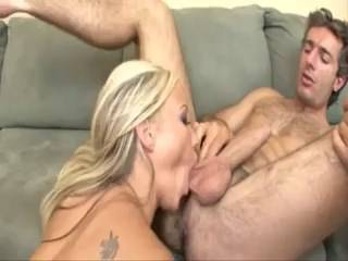 Hot Blonde Sucks Toes, Licks Ass And Fucks