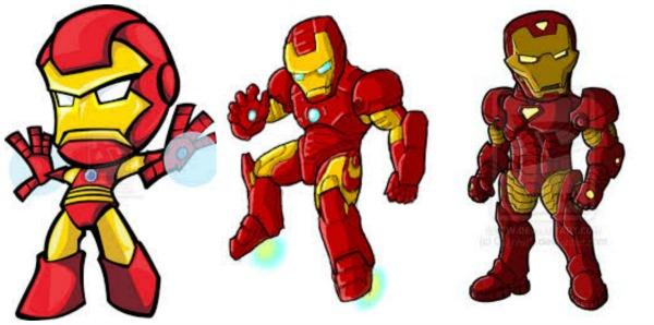 Iron Helmet Man Cartoon