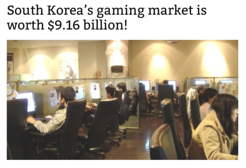 Gaming Culture in Korea