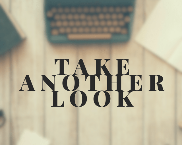 First Impressions Aren't Everything: Take a Second Chance to Look Again