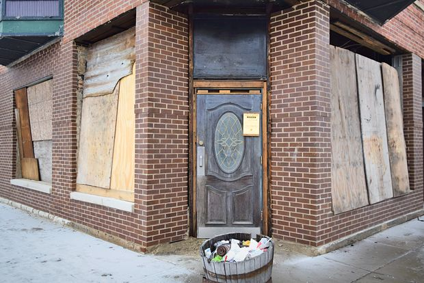 The former Edgewater Lounge at 5600 N. Ashland Ave. awaits renovations into a new restaurant.