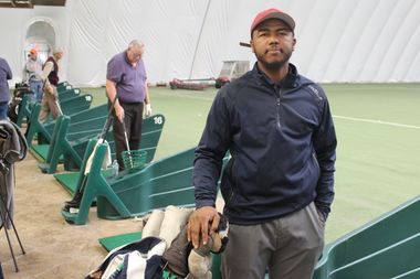 Dion Madkins, 31, who lives in Woodlawn, is founder of Hit It Straight Golf Academy.