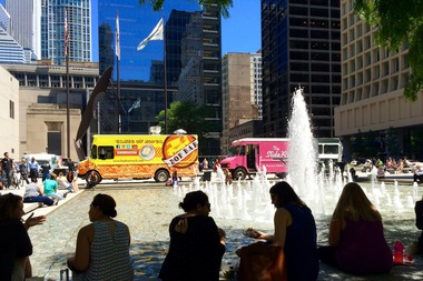 A food truck festival last summer in Daley Plaza.
