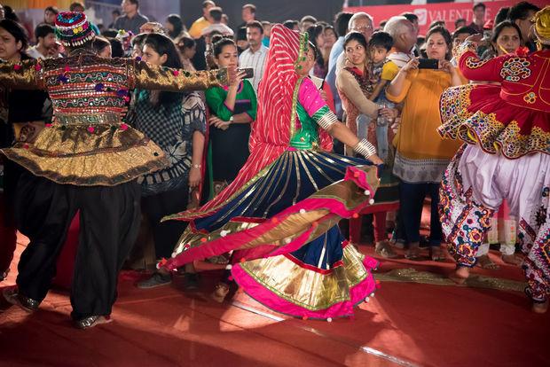 The Navratri festival will last nine days, celebrating the triumph of good over evil.