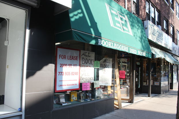 Booklegger's Used Books, 2907 N. Broadway, will close on Oct. 23 after almost three decades in Lakeview.