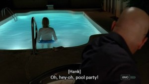 """Skyler pool party scene"""