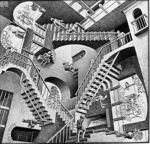 Optical illusion Stairs