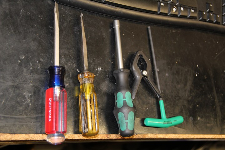 Tools used for the job
