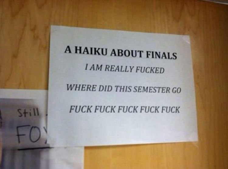 College Life in a Nutshell as seen on Badchix