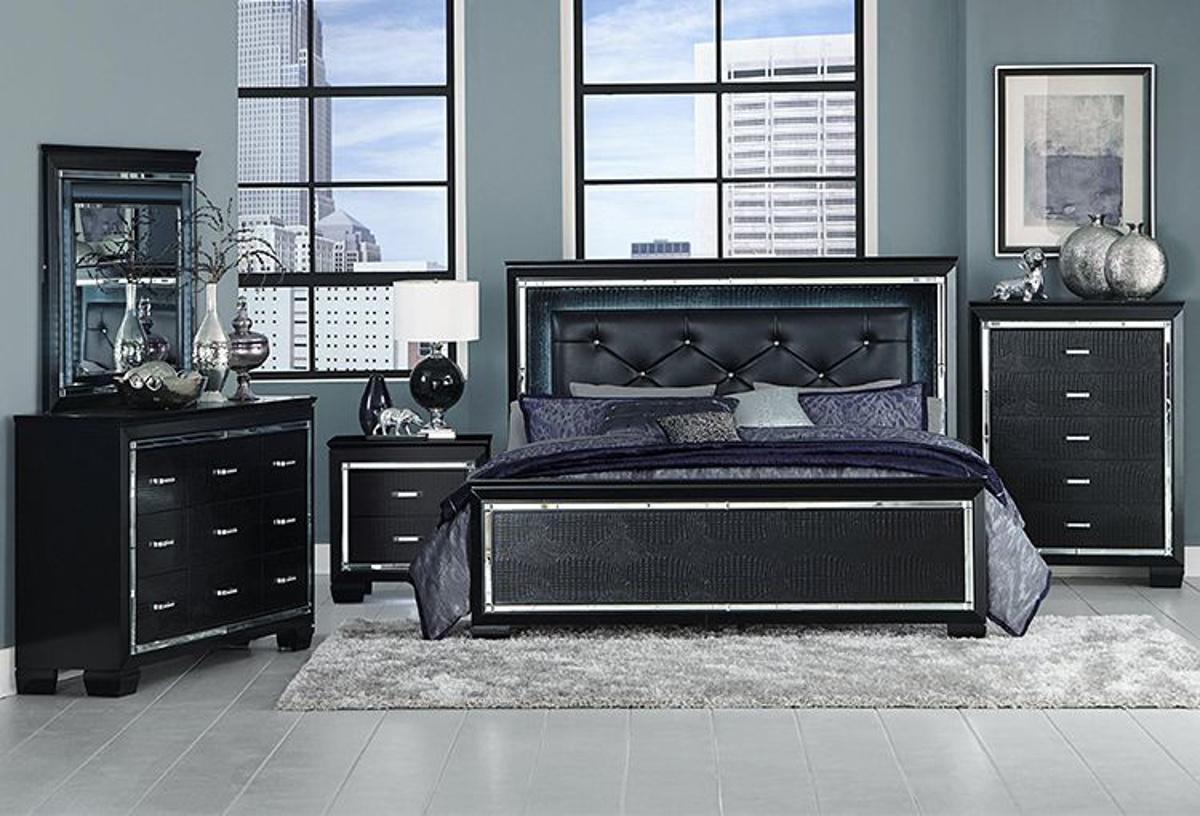 Buy Allura Black 5 Pc Queen Bedroom Part B1916 Badcock More