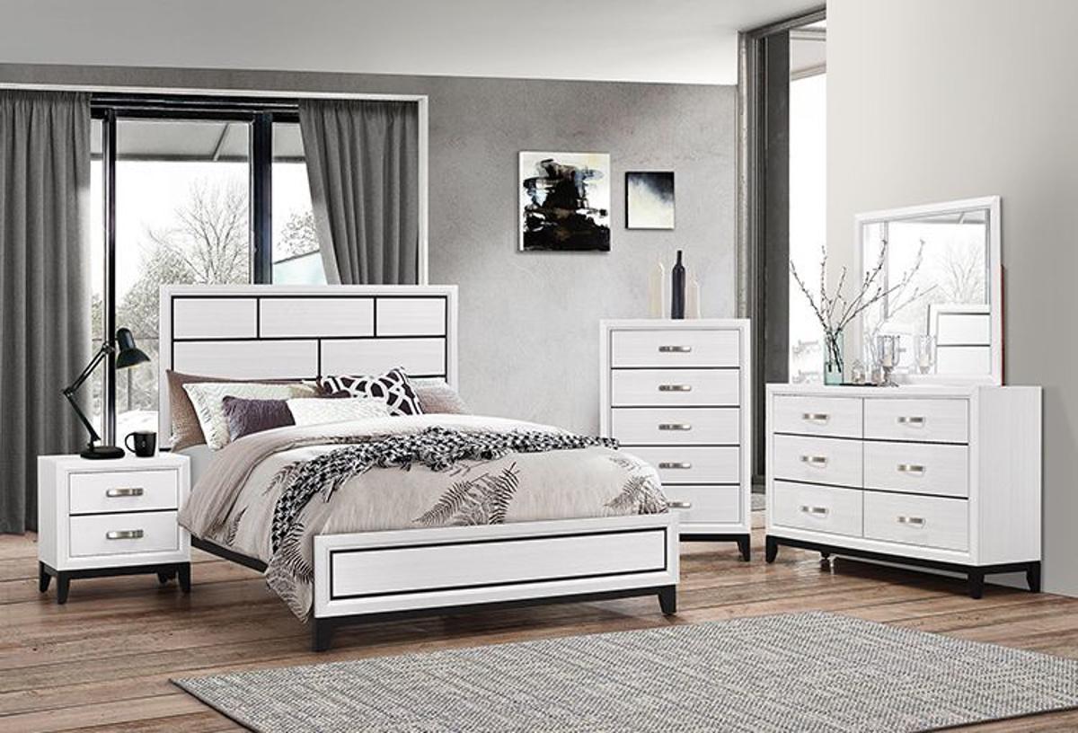 Buy Alexis White 5 Pc Full Bedroom Set Part Badcock More