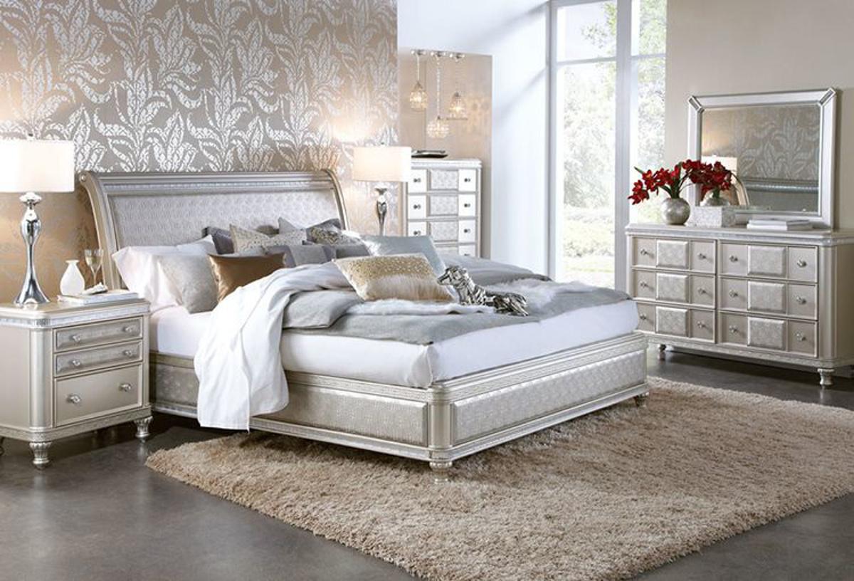 Buy Hefner Platinum 5 Pc Queen Bedroom Part Badcock More