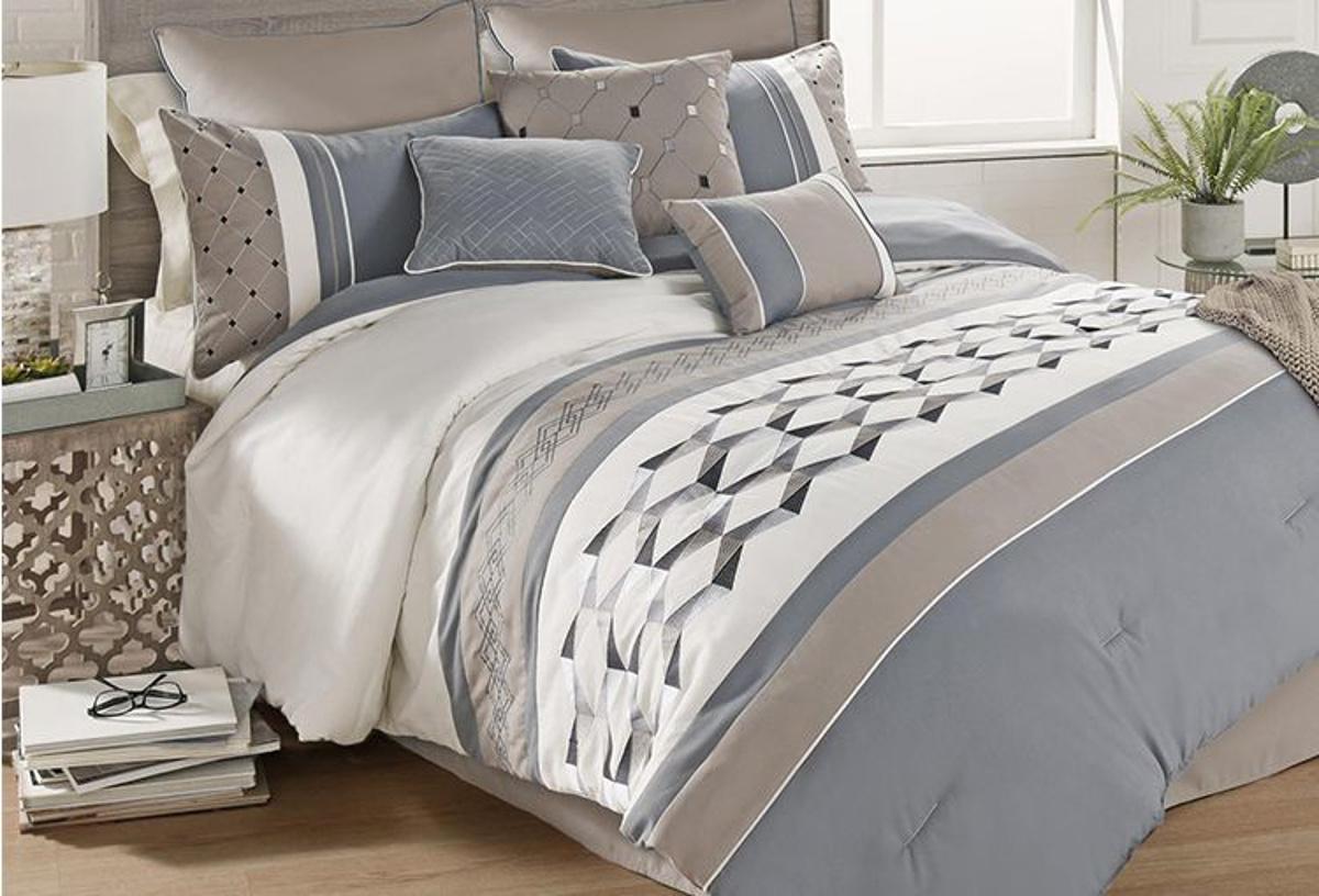 bailey beige 7pc king comforter set