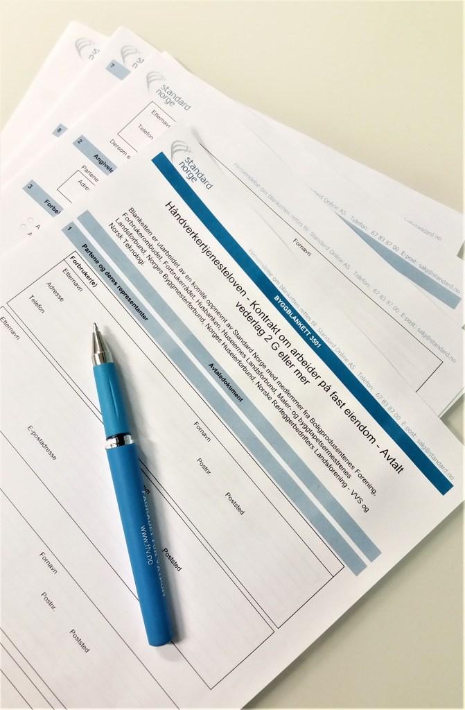 kontrakt håndverkertjenester