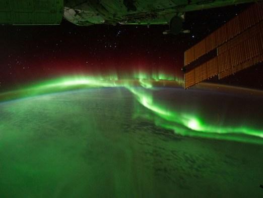 sørlys sett fra verdensrommet. foto: NASA