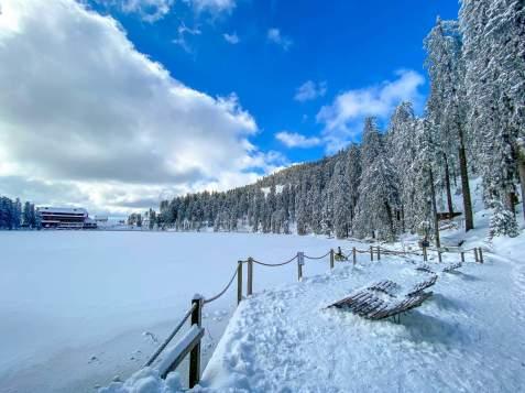 Frühling, März, Schnee, Mummelsee