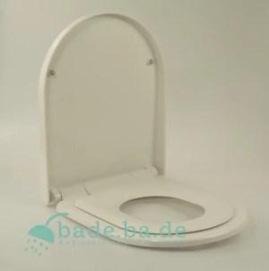 WC Sitz mit Kindersitz Absenkautomatik und D-Form / Soft-Close für Darling New Duravit