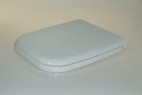 WC Sitz mit Absenkautomatik und Eckig Form / Soft-Close für D-Code Duravit - WC Sitz Shop