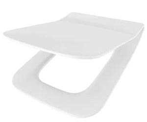 WC Sitz mit Absenkautomatik und Eckig Form / Soft-Close für Dama Senso ROCA - WC Sitz Shop