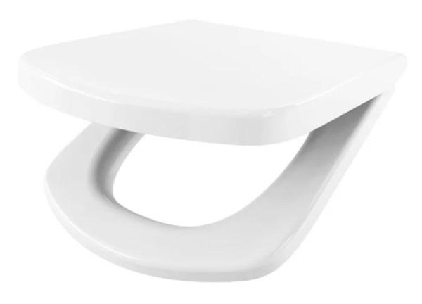 WC Sitz mit Absenkautomatik und Eckig Form / Soft-Close für Inspira ROCA - WC Sitz Shop