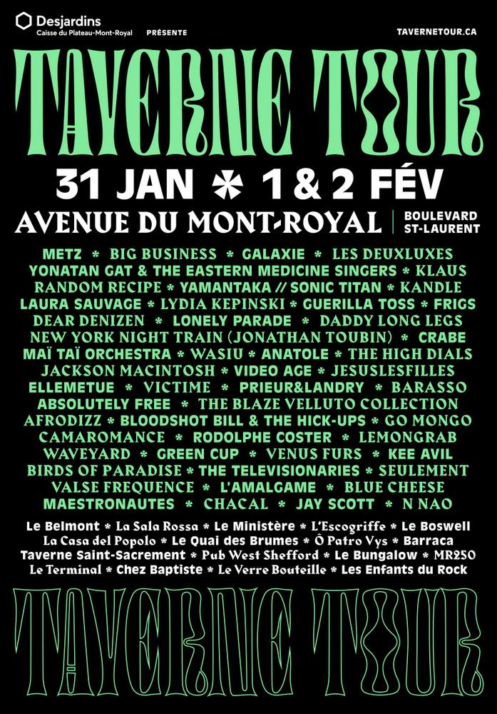 Image result for TAVERNE TOUR LINEUP