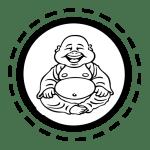 buddha belly badge