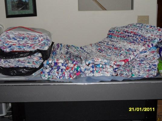 Milk mats pile