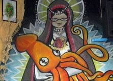 Virgin Mary vs. Squid