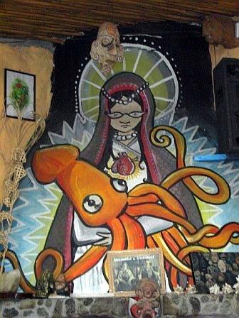 Virgin Mary vs. Squid
