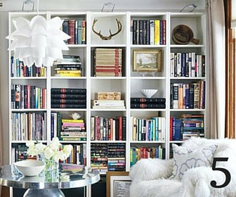 5 ways to style a bookcase like a pro