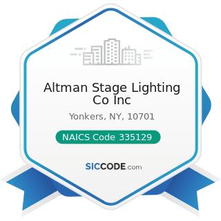 altman stage lighting co inc zip