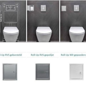 Etsero Roll-up closetrollen dispenser 13.7x77x13.5cm v. maximaal 6 rollen RVS gepolijst